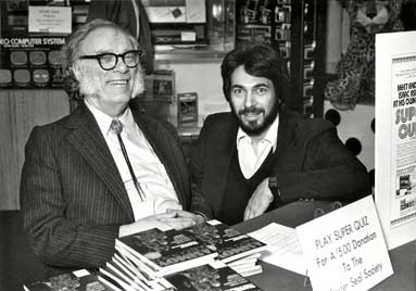 "In 1982, I helped the great science and science fiction author, Isaac Asimov, promote his new ""Isaac Asimov Super Quiz"" trivia game."